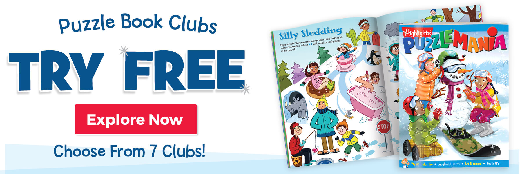 Join a Puzzle Book Club for FREE – explore all seven choices today!