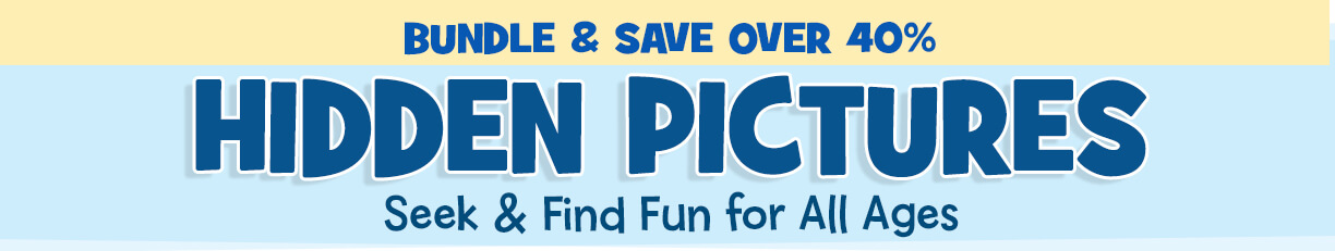 Save over 40% on our #1 best-selling Hidden Pictures items, including new titles for 2020!