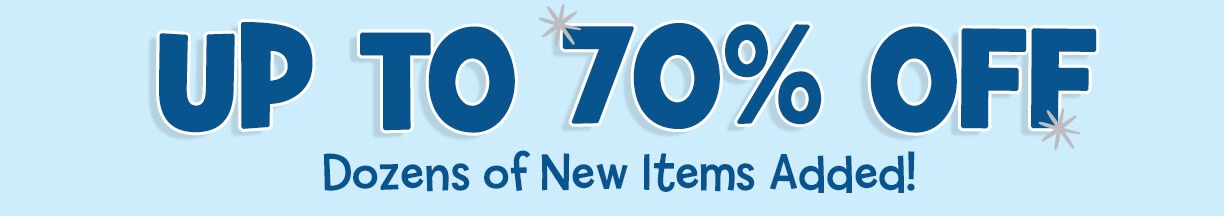 Up to 70% off. Dozens of new items added