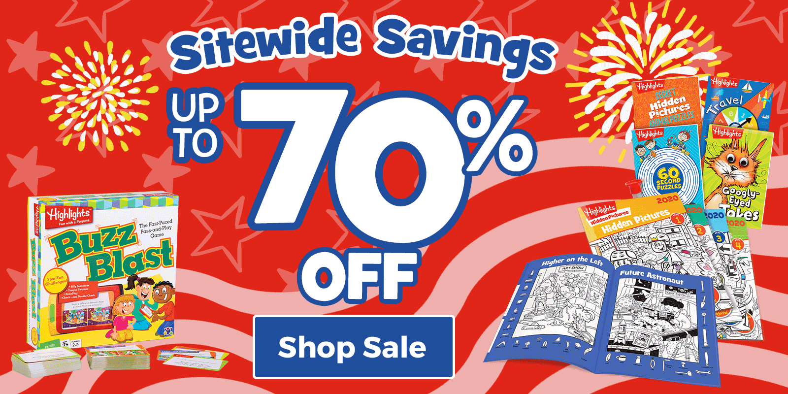 Save up to 70% sitewide during our big Stars & Stripes Sale!
