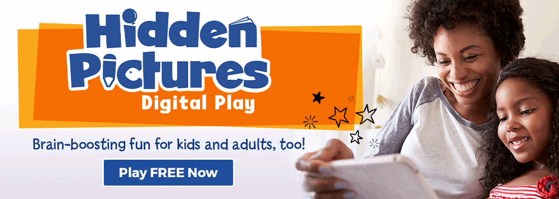 Hidden Pictures Digital Play offers an ad-free, brain-boosting experience for kids and adults – try free today!