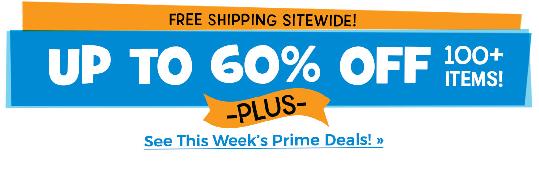 Prime Deal: Get up to 60% off 100+ items and free shipping
