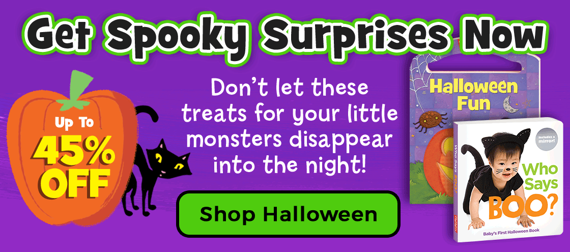 Shop our Halloween collection and save up to 45% on spooky surprises for your little monsters!