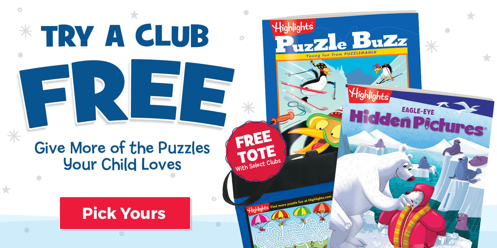 Try a Club FREE and get a FREE tote!