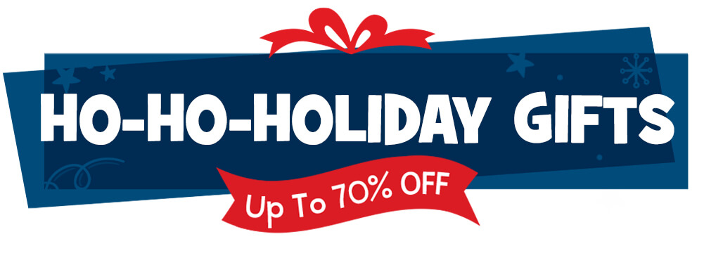 Get up to 70% OFF over 100 gift items, such as books, toys and activities!