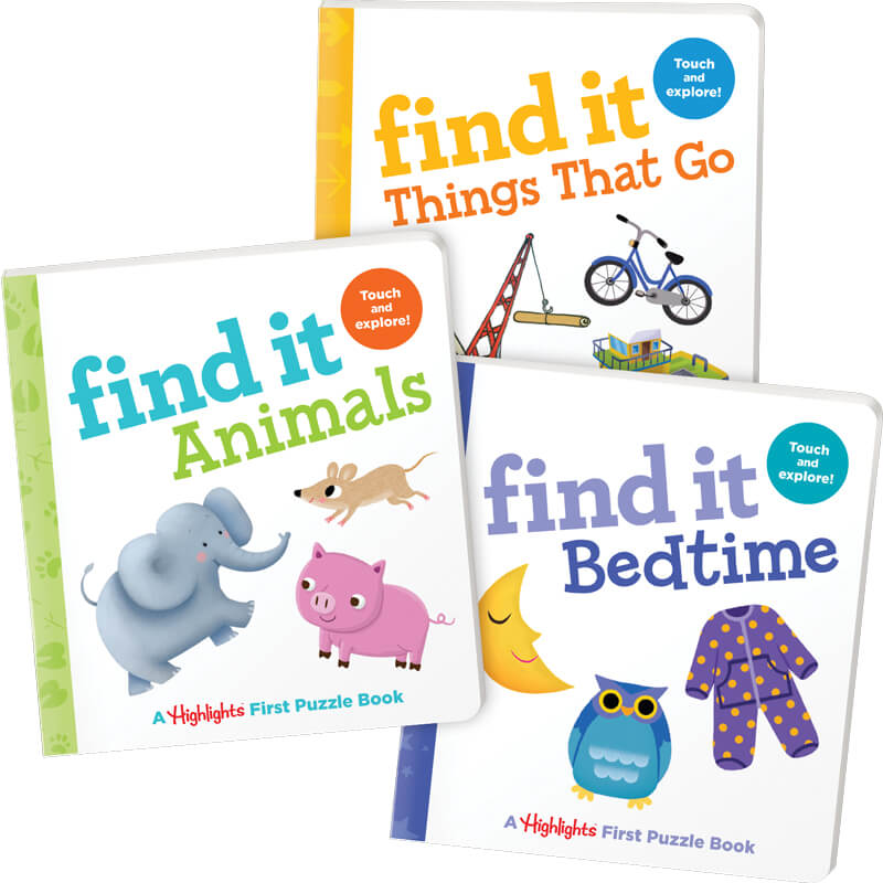 Find It Board Books Set of 3
