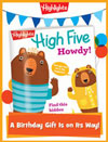 High Five Foldable Birthday Gift Announcement