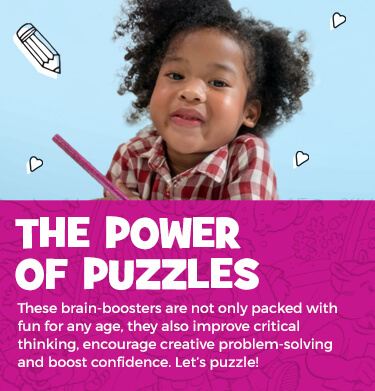 We're celebrating National Puzzle Day with a whole week of puzzle fun! From HIDDEN PICTURES and brain teasers to mazes and matching games, Highlights puzzles are all expertly designed to keep kids engaged and encourage them to keep trying.