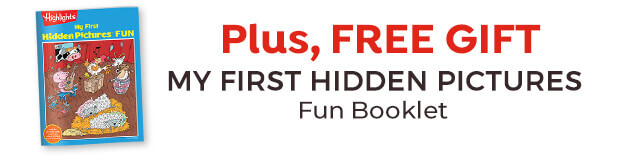 Plus, get a free gift: My First Hidden Pictures Fun booklet.