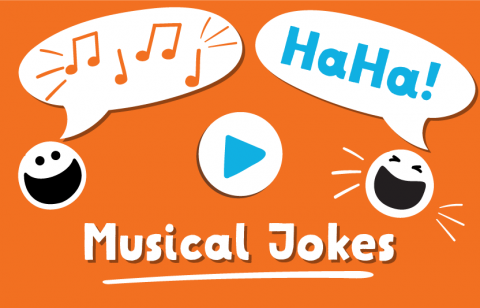laugh at musical jokes