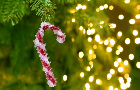 create rock candy ornaments