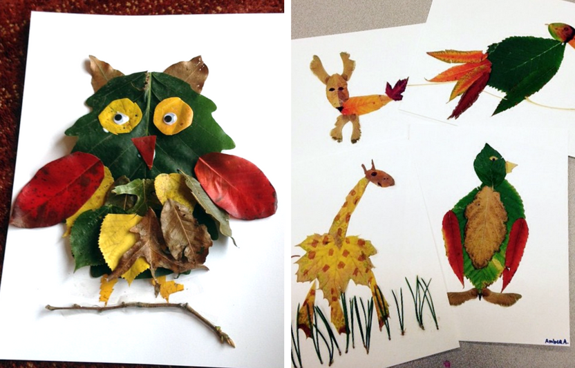 For this activity, all you need are leaves and googly eyes—the rest is up to your kid's imagination!