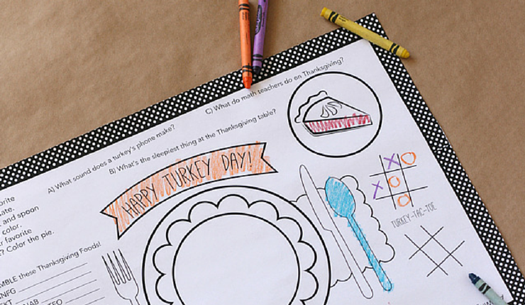 Kids will love to color and create their own special placemat.