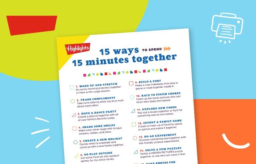 15 Ways to Spend 15 Minutes Together