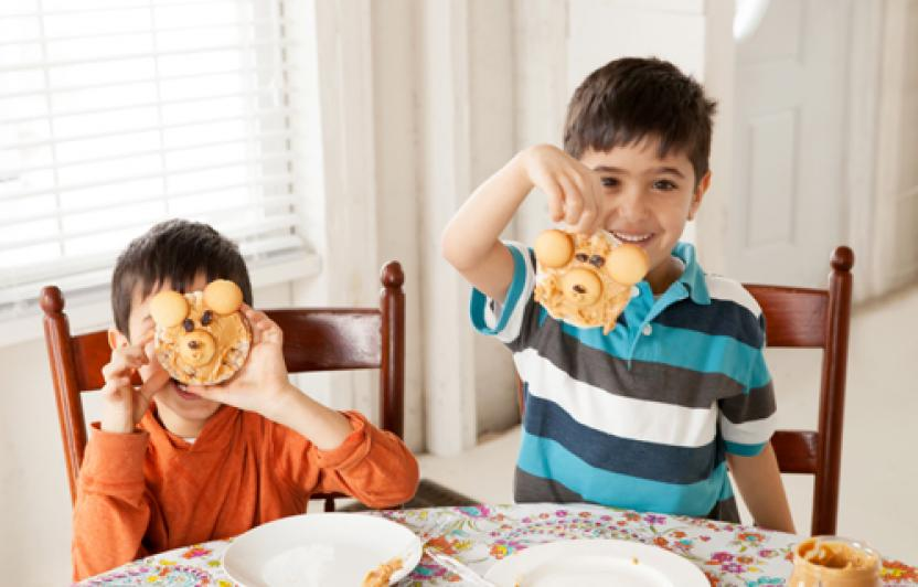 Kids love making faces—with food! These peanut-butter snacks have lots of personality and healthy ingredients.