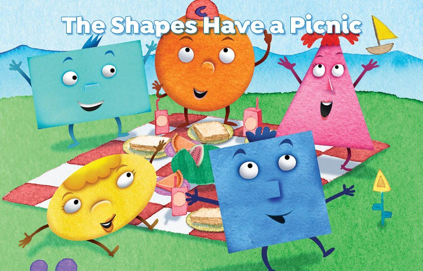 story about shapes having a picnic