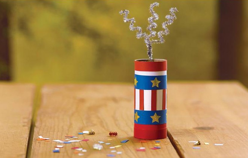 Celebrate Independence Day with these fun and safe DIY confetti poppers.