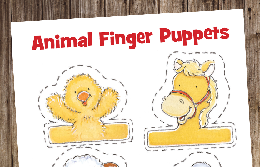 Printable Animal Finger Puppet