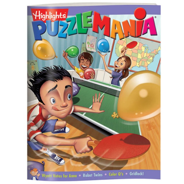 Puzzlemania books are filled with a wide variety of puzzle types.