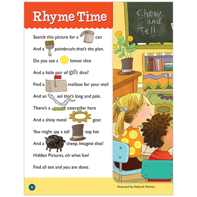 Rhyme Time Hidden Pictures LET'S PLAY Puzzle