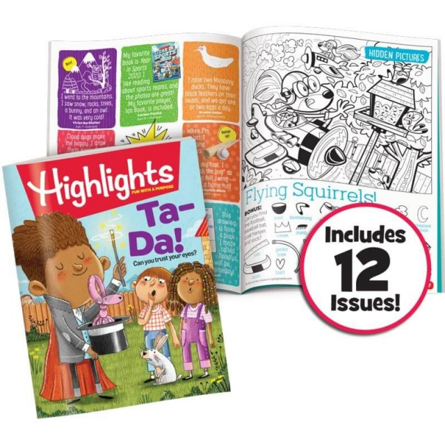 Highlights magazine, Hidden Pictures puzzle and kid-submitted anedotes