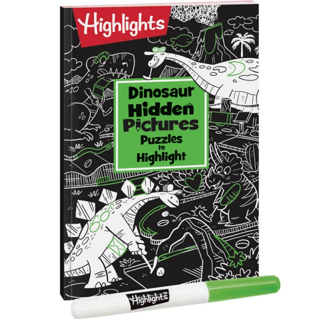Dinosaur Hidden Pictures Puzzles to Highlight