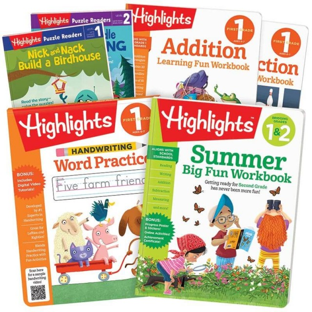 Summer Learning Pack 1-2 includes 6 books