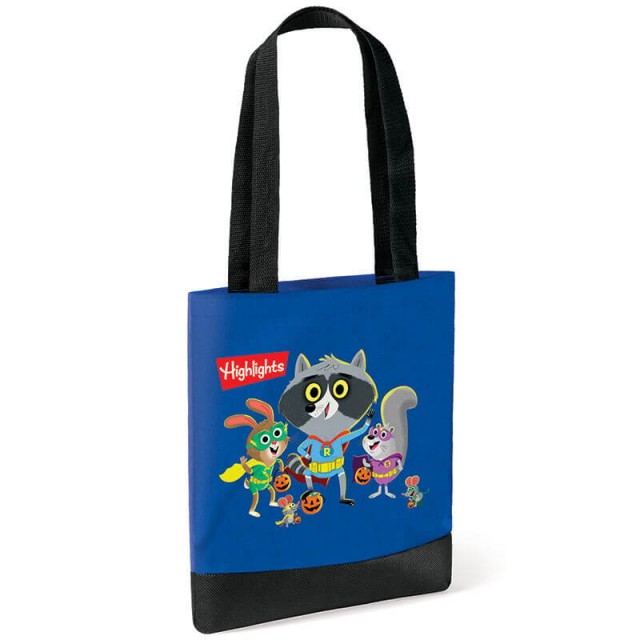 Raccoon tote bag without books