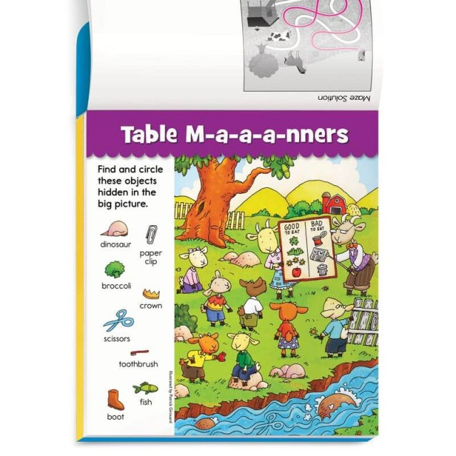 Goat table manners Hidden Pictures puzzle