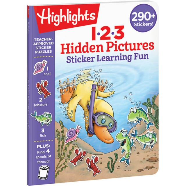 123 Hidden Pictures Sticker Learning Fun book