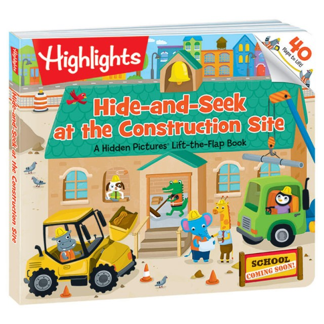 Hide-and-Seek at the Construction Site lift-the-flaps board book