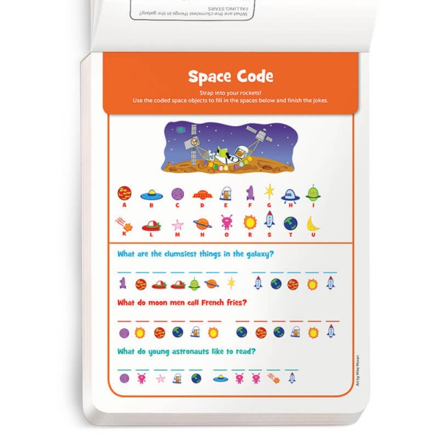 A space-themed code puzzle