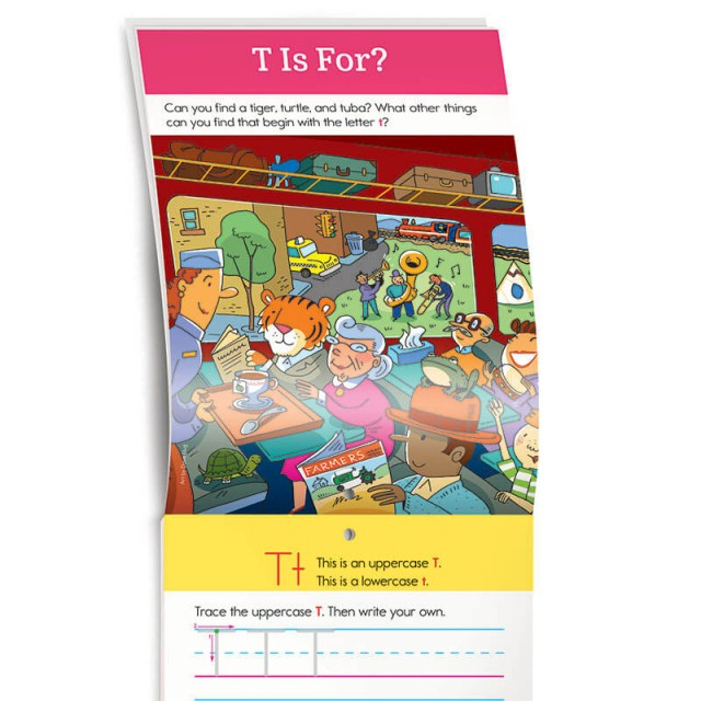 An illustration to search for items that start with letter T
