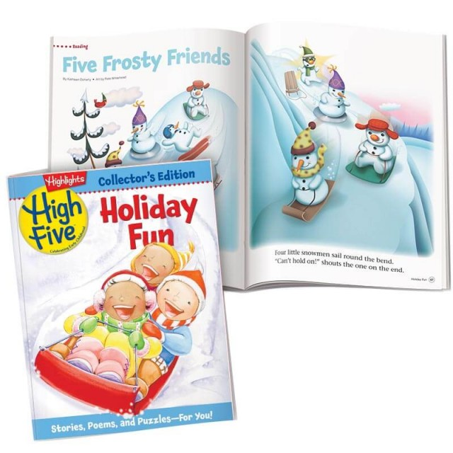 High Five magazine collector's edition Holiday Fun and snowman story page