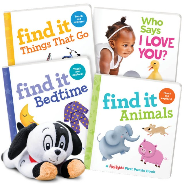Summer Fun Pack Ages 0-3 includes 4 board books and a plush toy