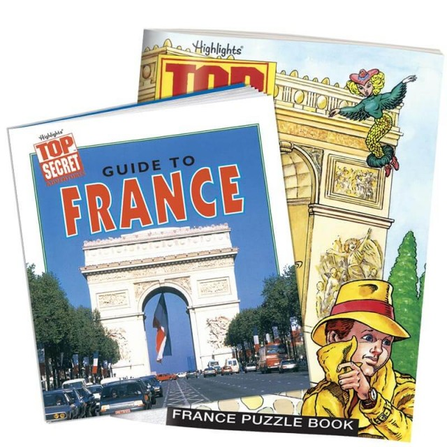 France country guidebook and puzzle book