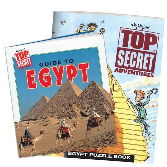 Egypt country guidebook and puzzle book