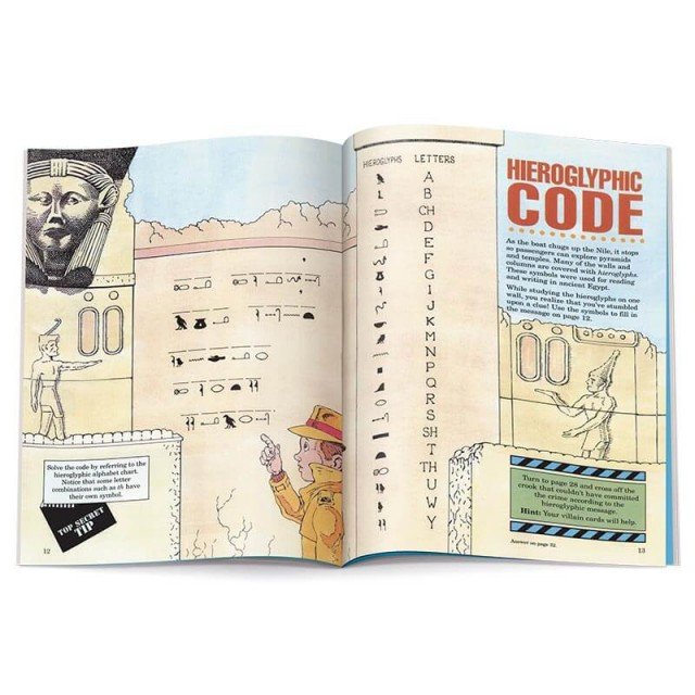 A code puzzle featuring hieroglyphs
