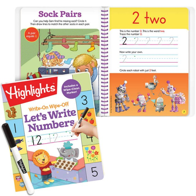 Let's Write Numbers book and practice for number 2