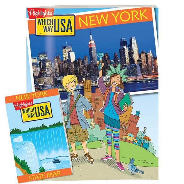 The New York state puzzle book and folded map