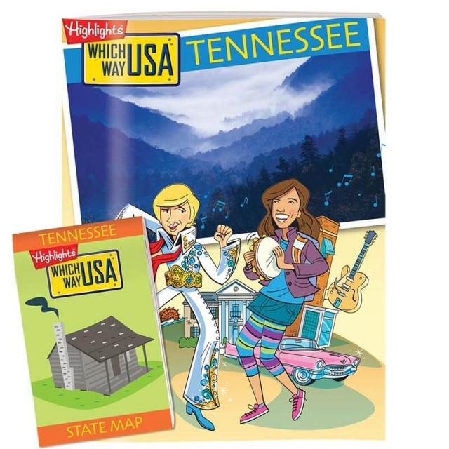 The Tennessee state puzzle book and folded map