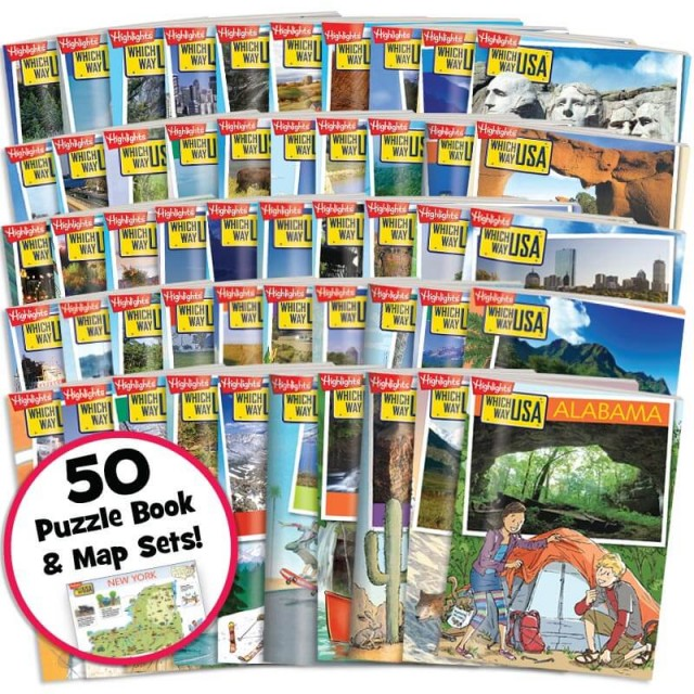 Which Way USA: 50 US States Collection includes 50 state sets