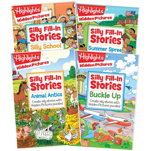 4 Silly Stories puzzle pads