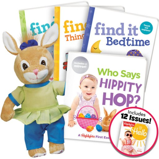 Deluxe Easter Gift Set for ages 0+, with 4 books, a plush bunny and magazine subscription