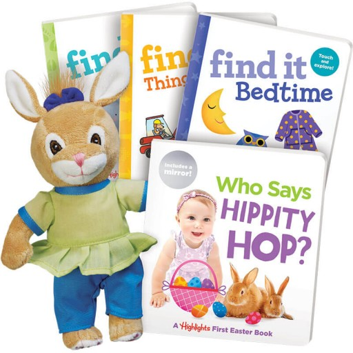 Easter Gift Set for ages 0+, with 4 books and a plush bunny
