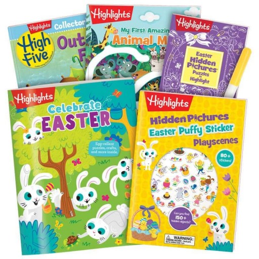 Easter Gift Set for ages 3+, with 5 books and a marker