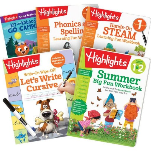 Summer Learning Pack: 1-2, with 5 books