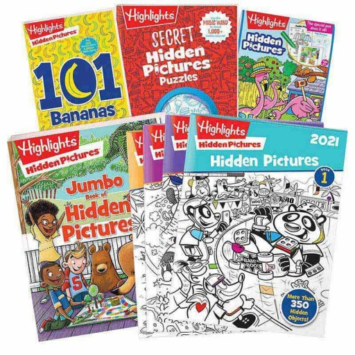 Hidden Pictures Gift Set with 4 books and Hidden Pictures 2021 4-book set