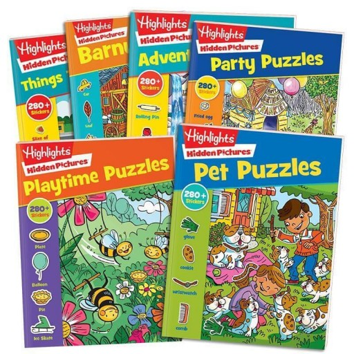 Hidden Pictures Stickers Complete Collection set of 6 books