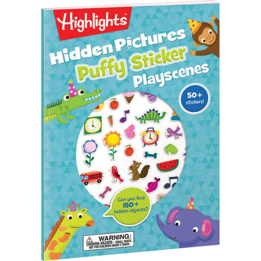 Hidden Pictures Puffy Sticker Playscenes book